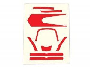 Dekaler röd Aton