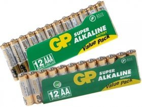 GP AA/12 kpl + AAA/12 kpl paristoa