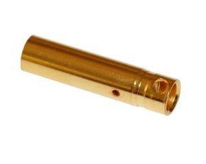 Kultainen liitin 4mm naaras