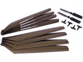 Rotorbladskit X09 Metal-Pro