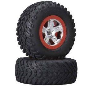 Traxxas SCT Rengas punainen/kromi SC 2WD eteen